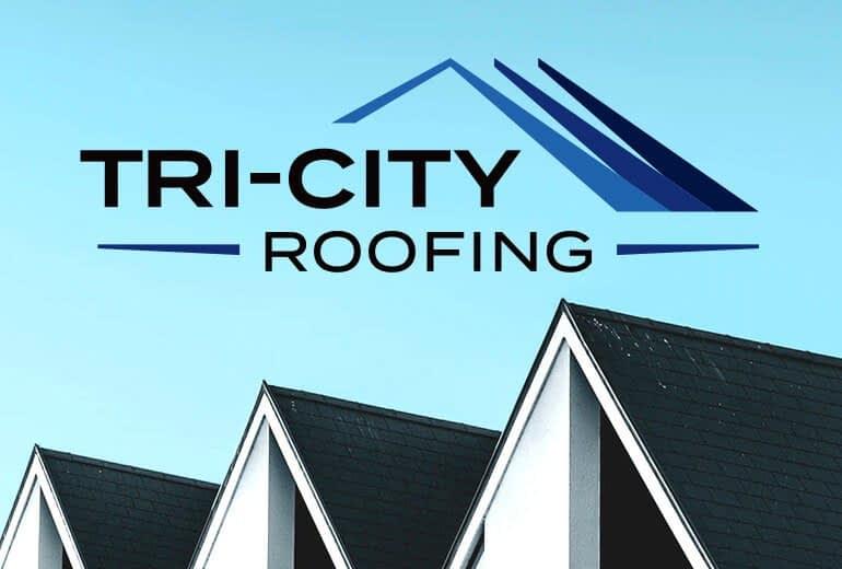 Tri-City Roofing logo by San Francisco logo designer Susy Bias