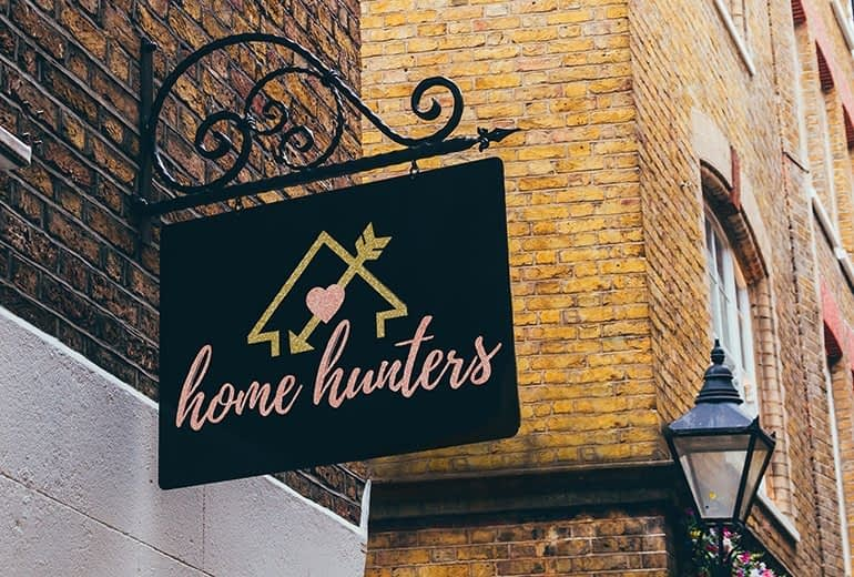 Home Hunters Outdoor Signage