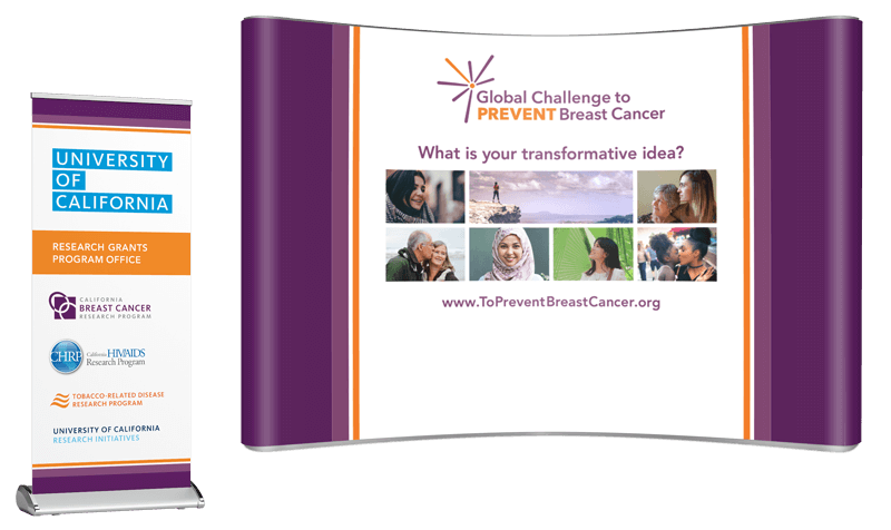 Global Challenge to Prevent Breast Cancer conference booth design