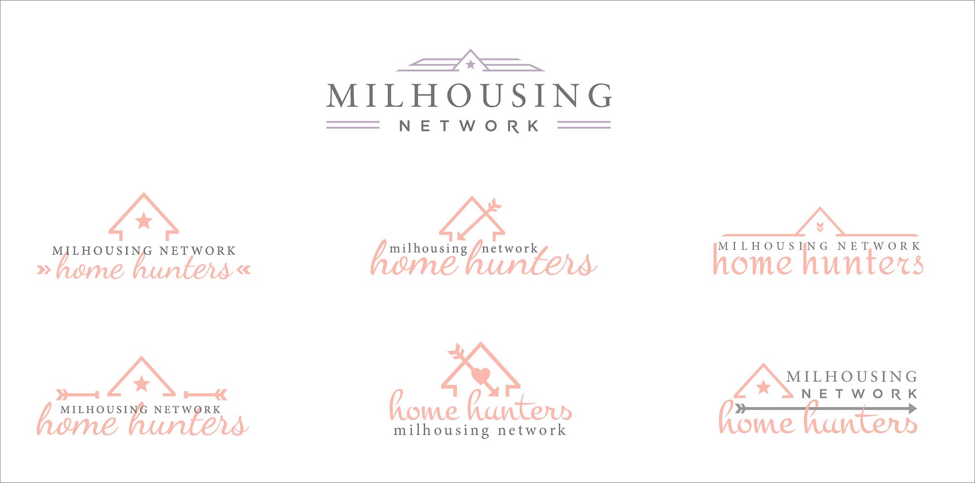 Home Hunters logo concepts