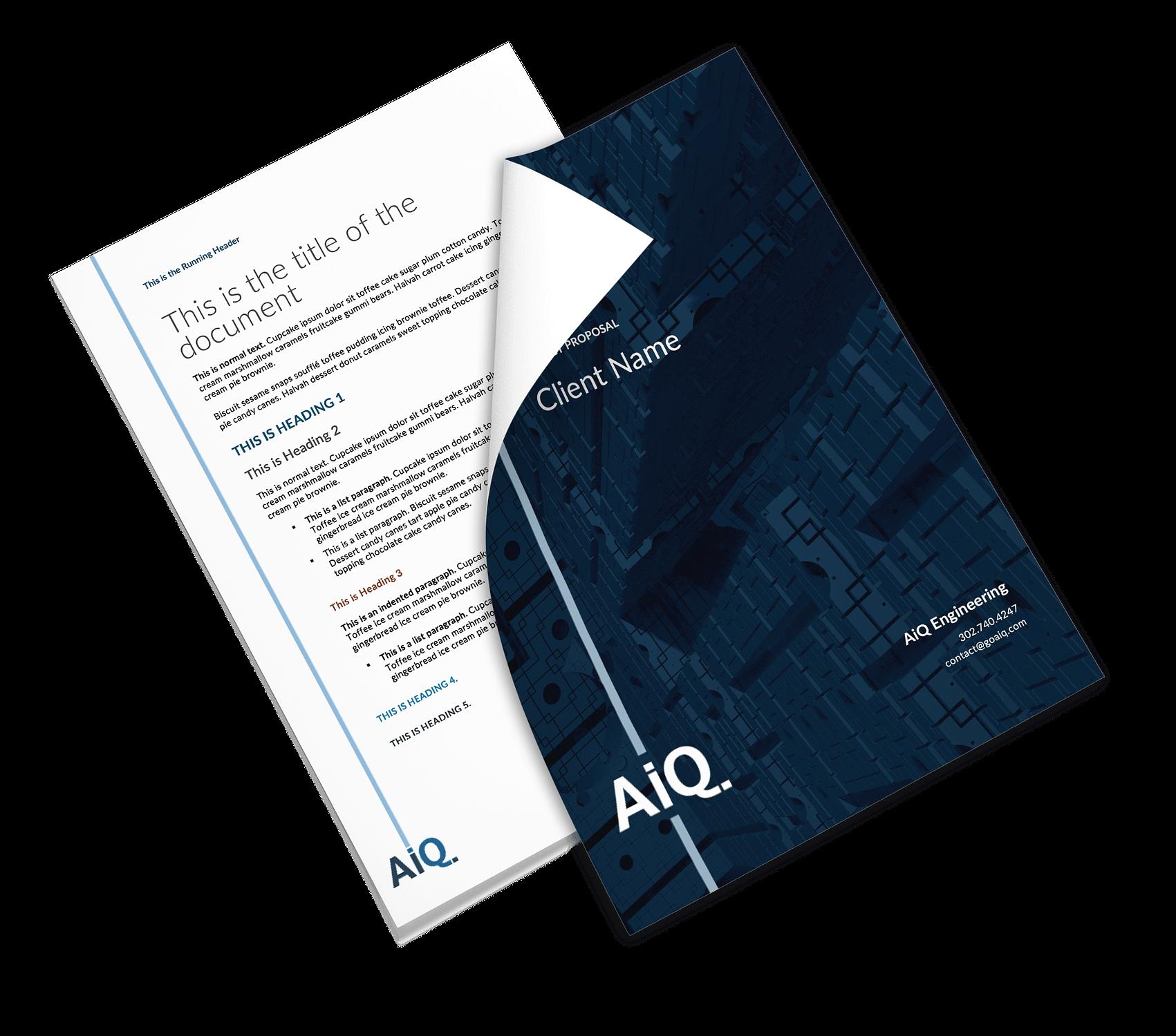 AiQ document template design