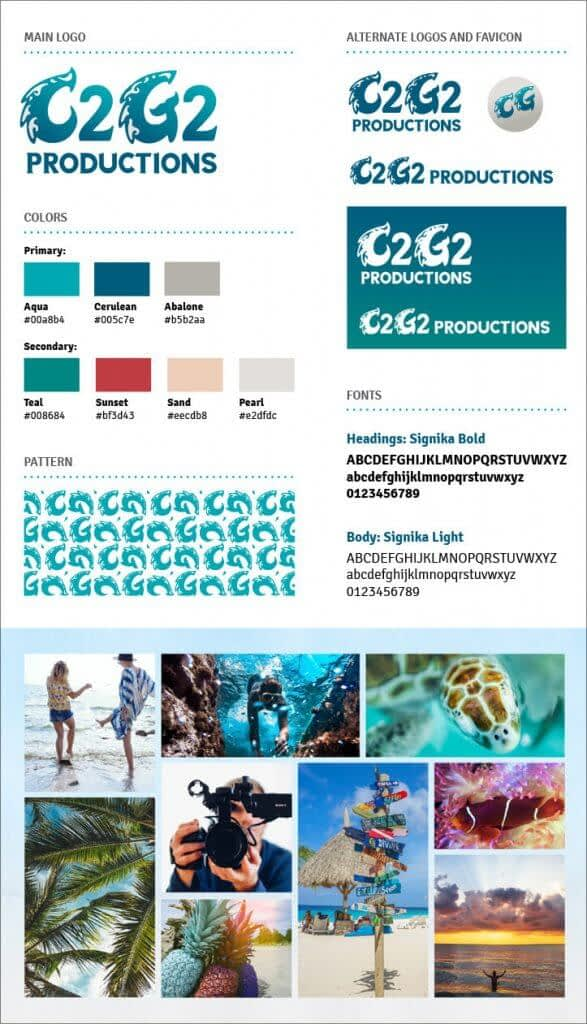 C2G2 Productions brand board