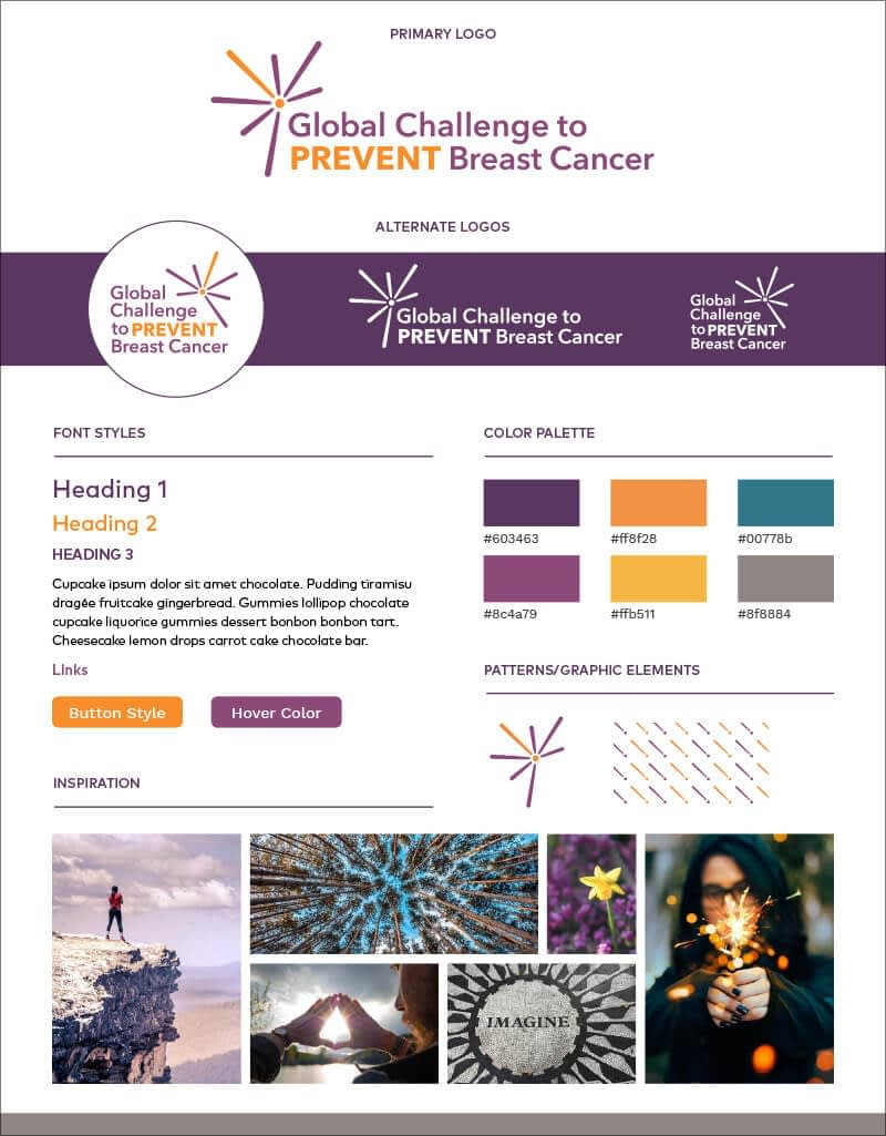 Global Challenge to Prevent Breast Cancer brand board
