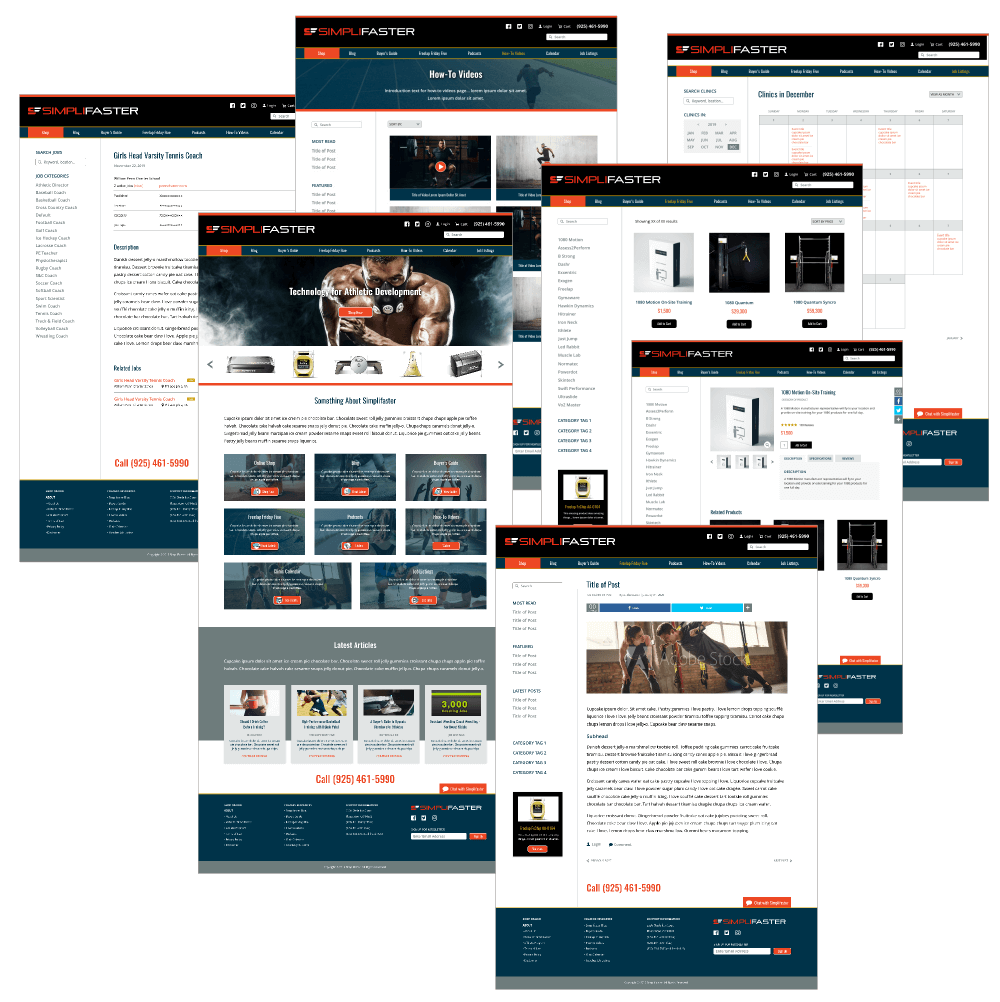 Simplifaster website pages