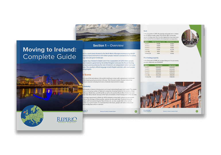 Mockup of Moving to Ireland Guide