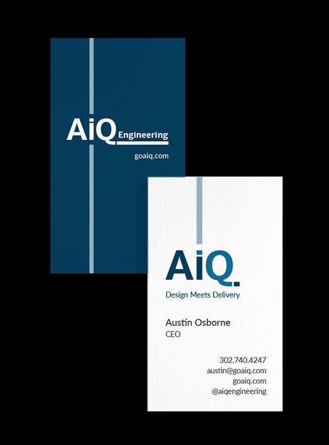 AiQ business card design