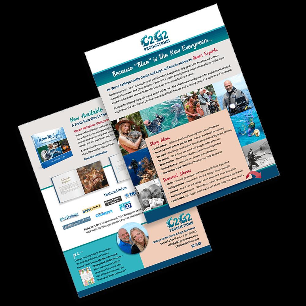 C2G2 Productions promotional flyer design