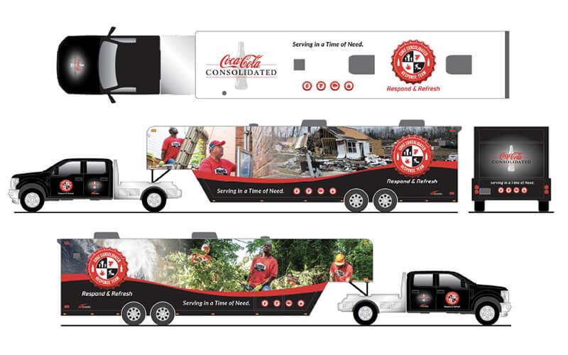 Coke Semi Trailer Artwork