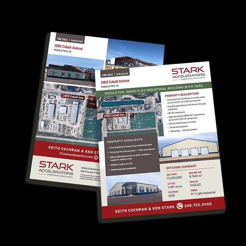 Stark Accelerators Commercial Real Estate sales sheet