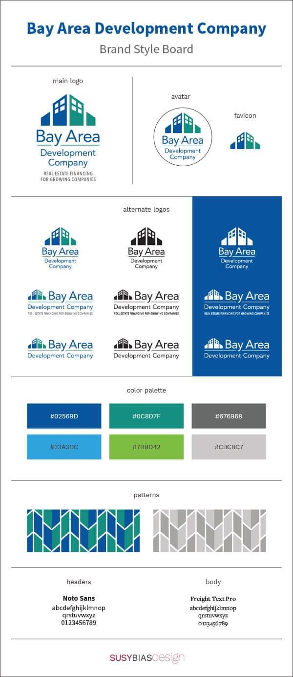 Bay Area Development Company brand board