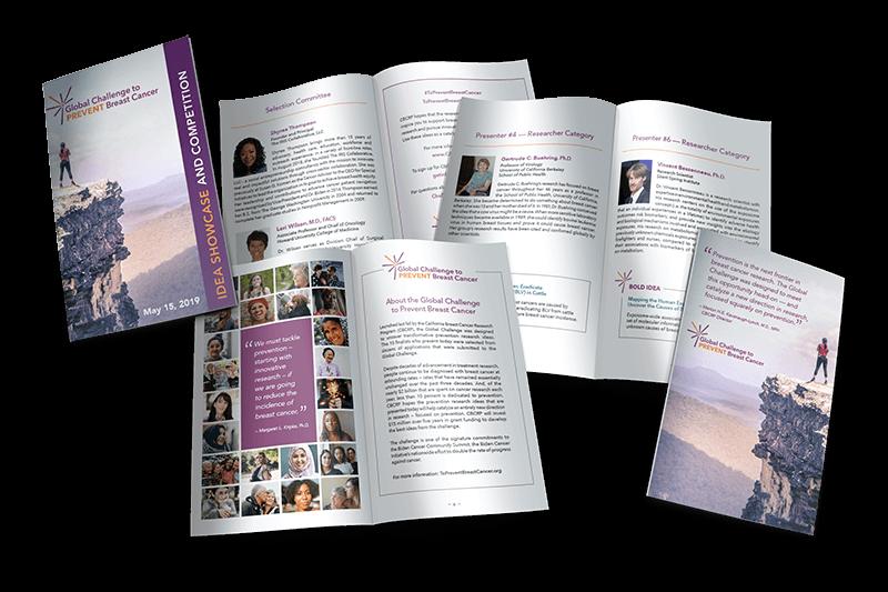 Global Challenge to Prevent Breast Cancer event program design