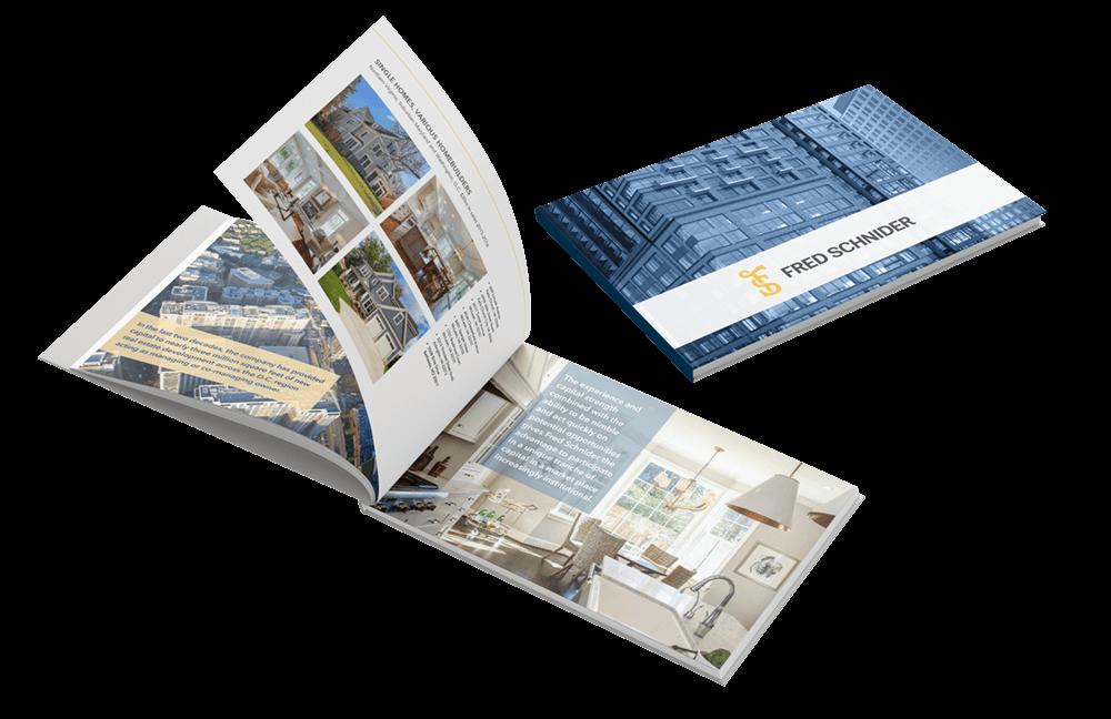 Fred Schnider real estate portfolio book design