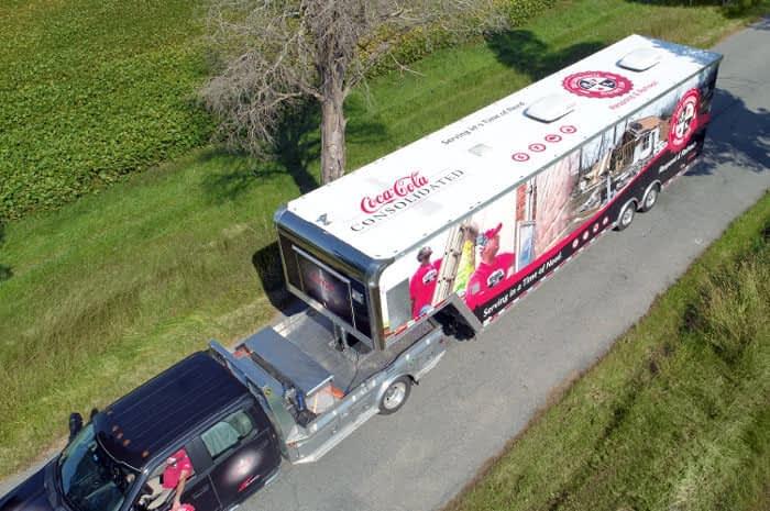 Coke Semi Trailer Overhead View