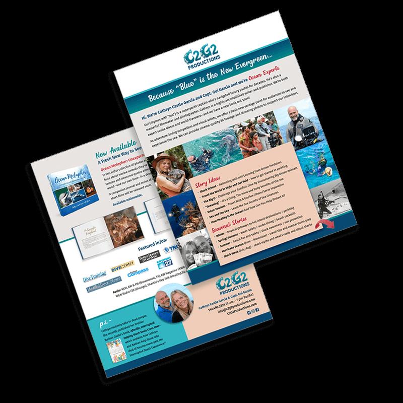 C2G2 Productions marketing flyer
